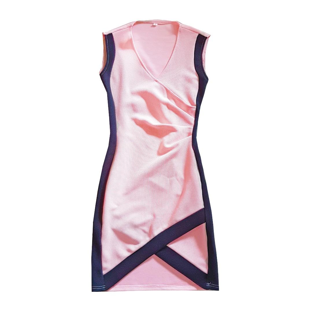 e13cf07e41 SHEIN PINK WRAP DRESS, Women's Fashion, Clothes, Dresses & Skirts on ...