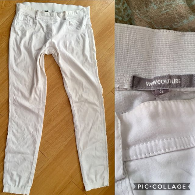 Stretchable offwhite pants