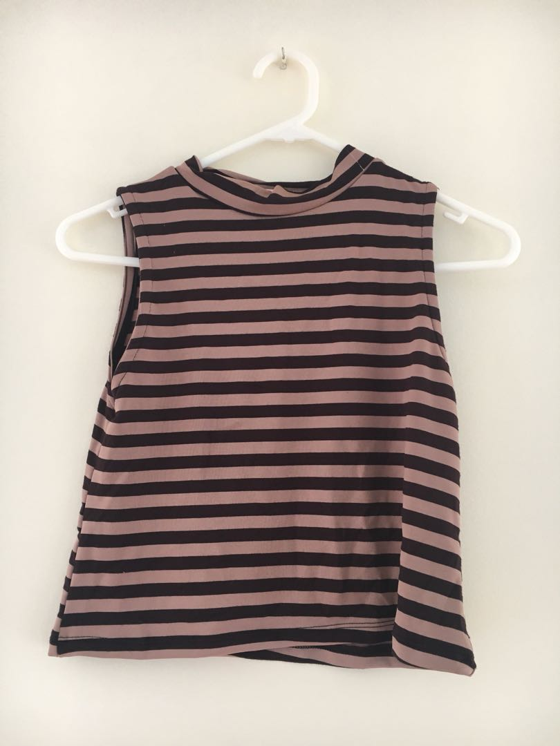 Striped Crop Top size s