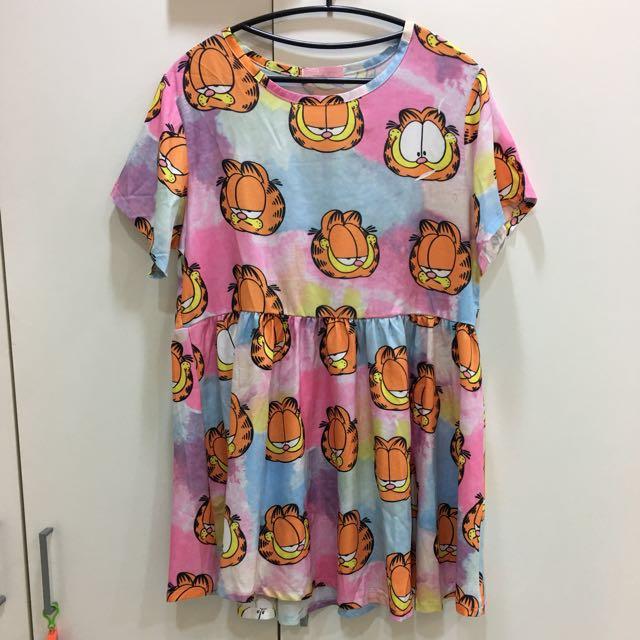 超可愛加菲貓洋裝(S~XL)質料好