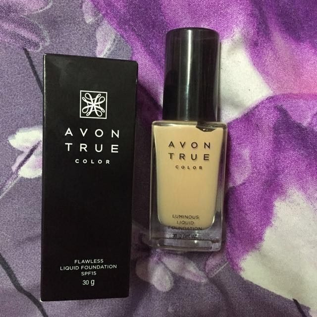 #take10off Avon True Color Flawless Liquid Foundation in Shell