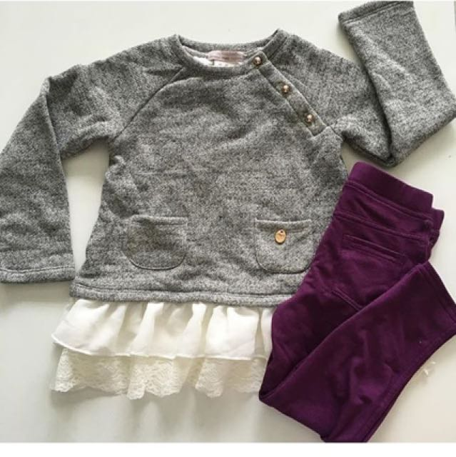 Terno gray longsleeve + leggings