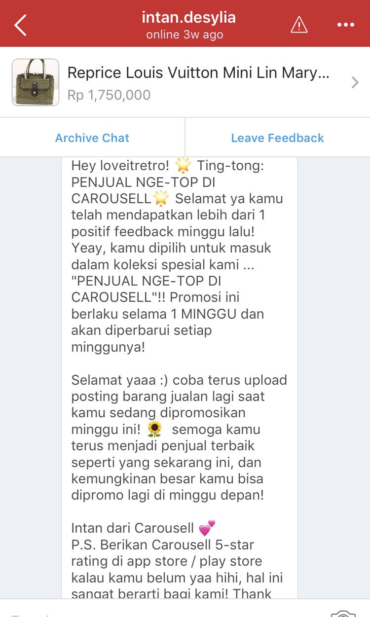 Thank you Carousell 🙏🏼❤️