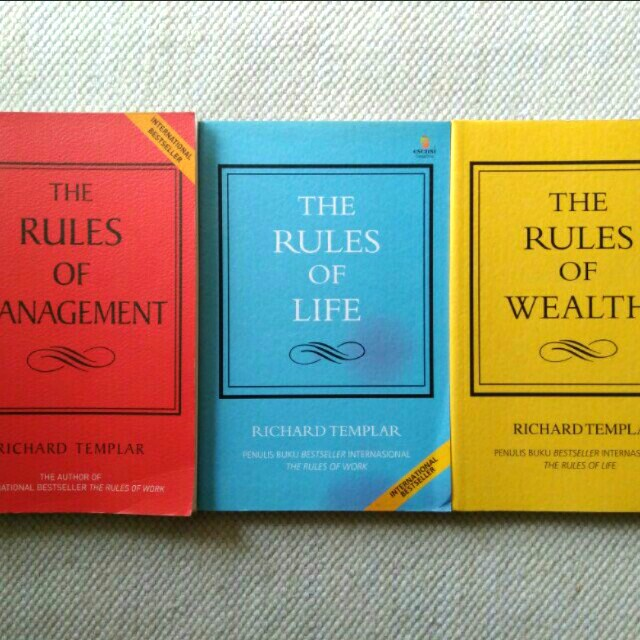 The Rules of Management, Life and Wealth (Richard Templar) 3buku