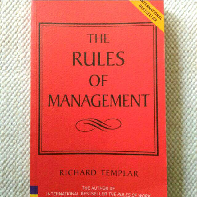 The Rules of MANAGEMENT (Richard Templar)