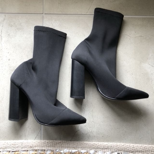 Tony Bianco - Diddy Boots (Black Lycra)