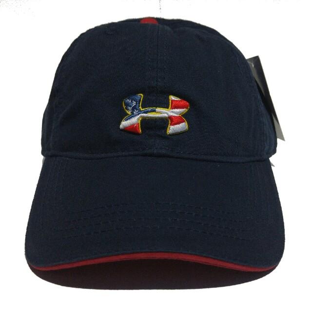 Topi Under Armour Navy Original Quality, Fesyen Pria, Aksesoris di Carousell