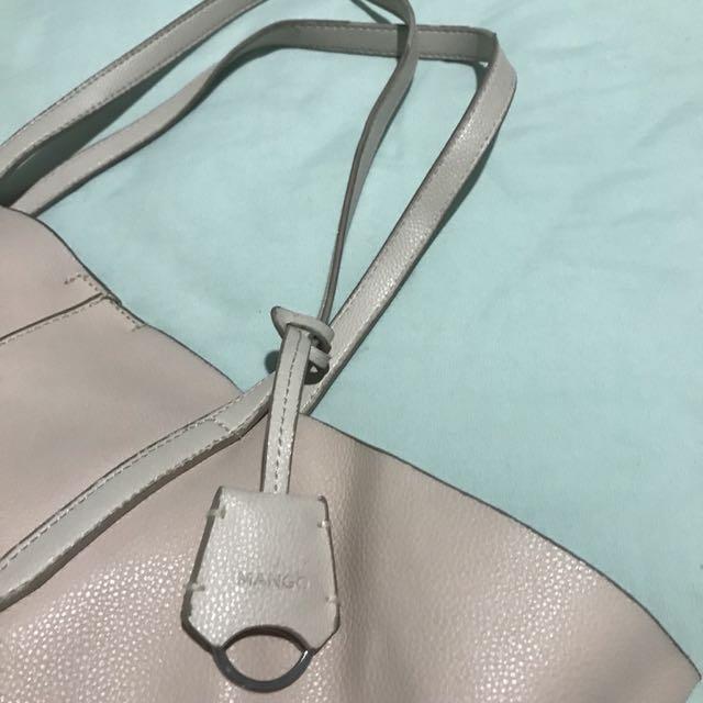 Tote Bag Mango Leather warna Peach