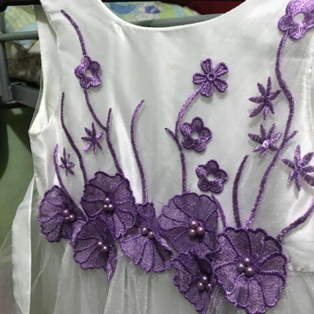 Tutu Purple Flower Dress