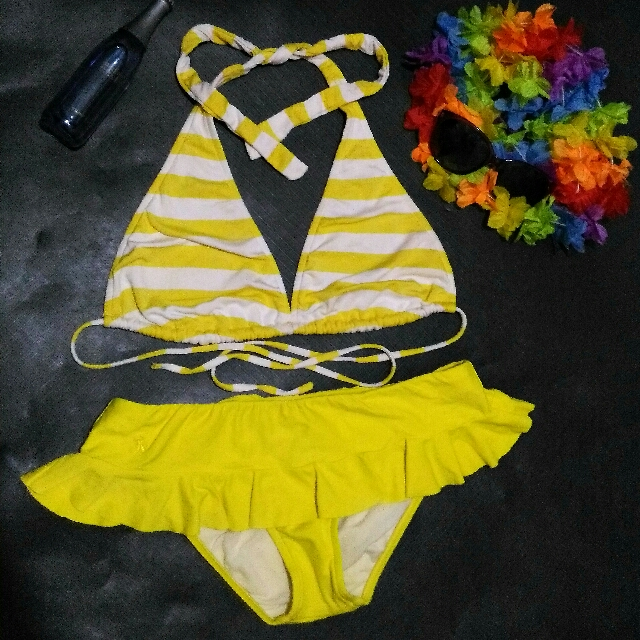 Two Piece Swimsuit (Yellow)