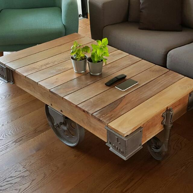 Urban Minimalist Industrial Design Coffee Table Tv Console Rustic Shabby Chic Furniture Others On Carousell