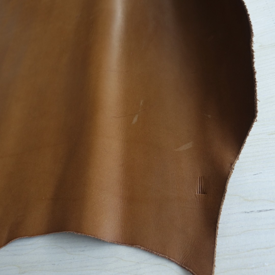 Vegetable Tanned Leather for Handmade *Natural Brown 1.7mm