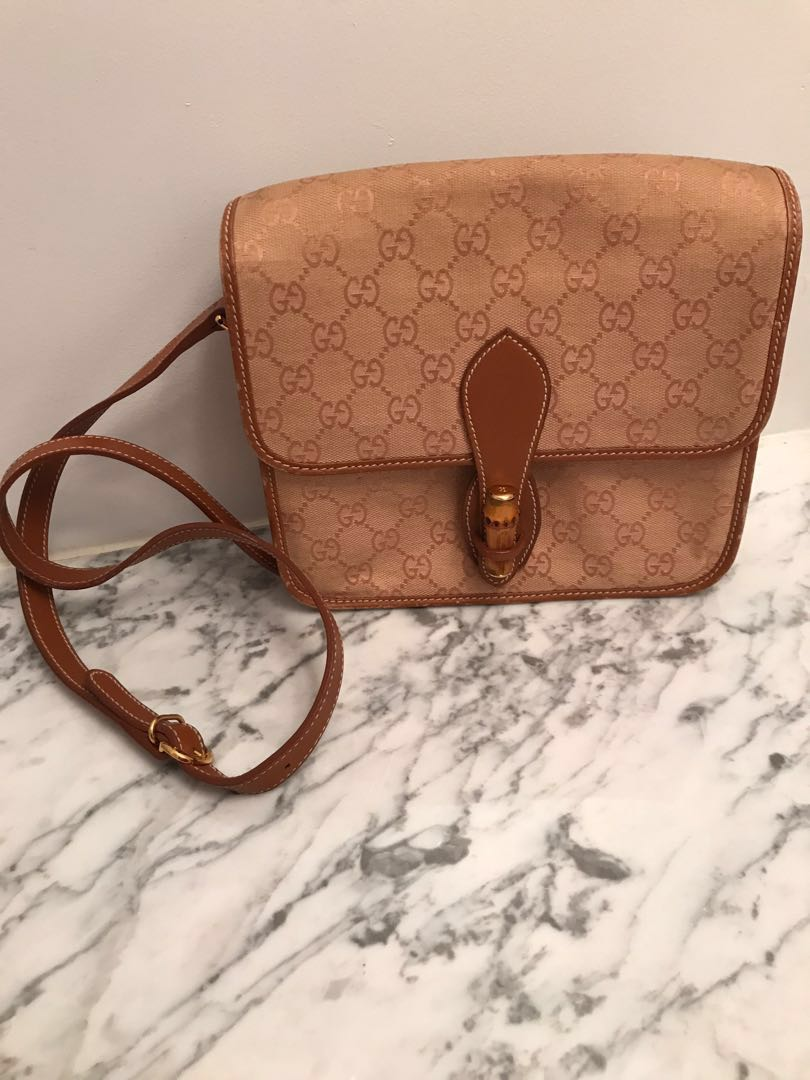 Vintage Canvas and Leather Purse