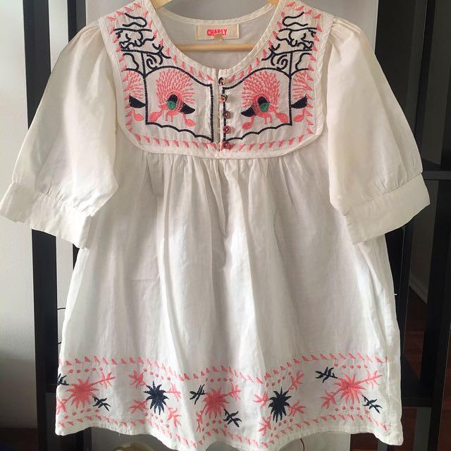 White Women's Top Summer Tunic Size 1