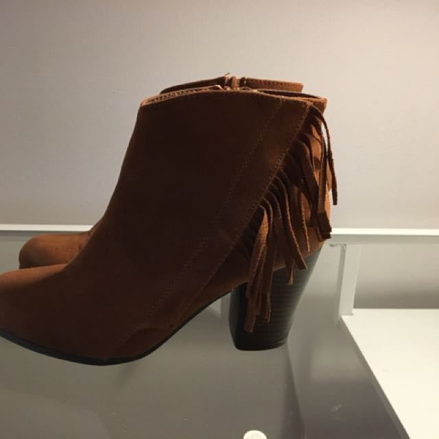 Woman's Fringe Booties