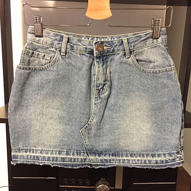 Women's Denim Mini Skirt Aus 6 XS