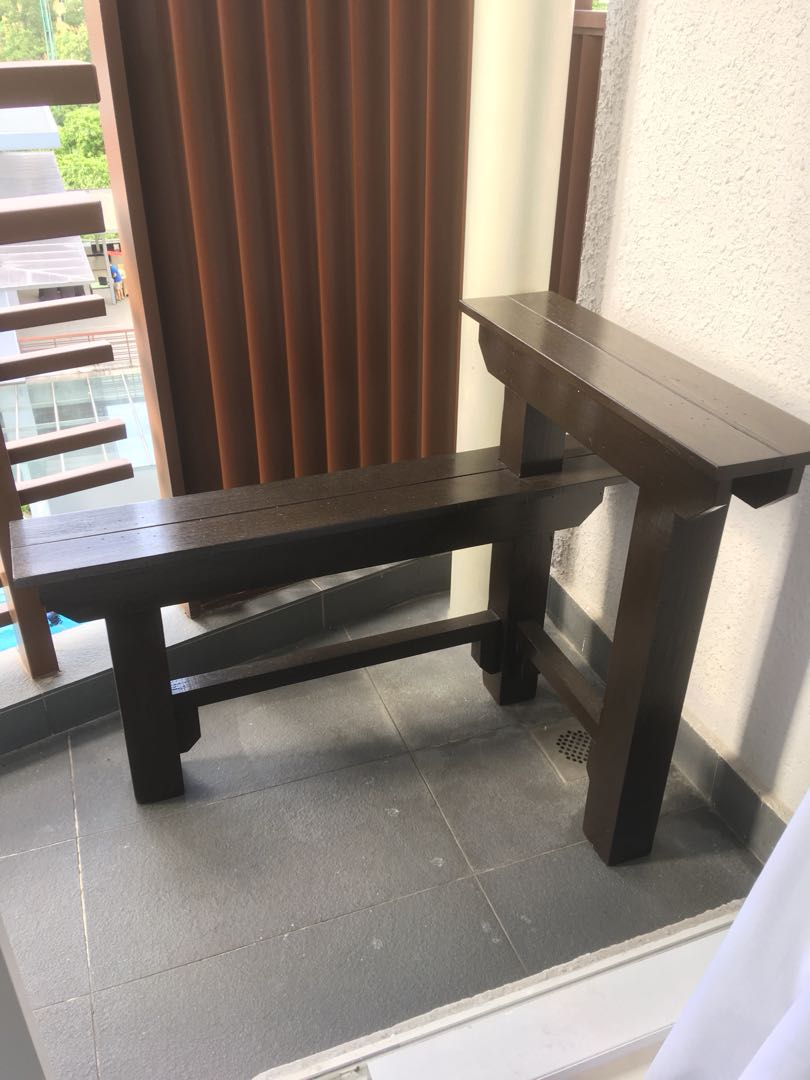 Superb Wood Garden Bench Attached With Table Beatyapartments Chair Design Images Beatyapartmentscom