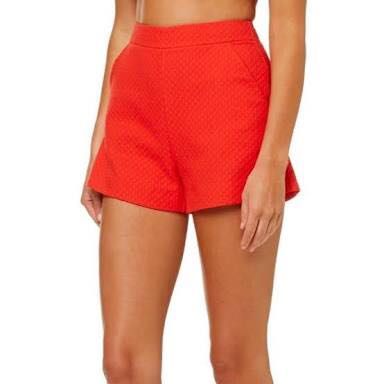WTB kookai red marguerite shorts size 36