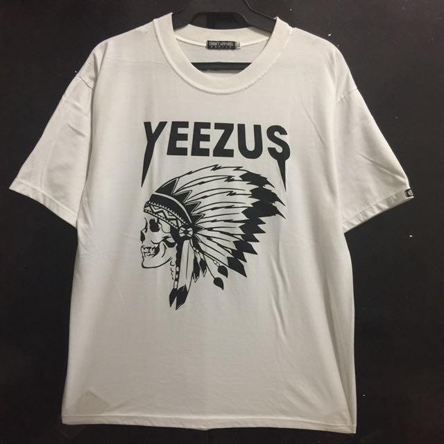 Yeezus White Graphic Shirt XL