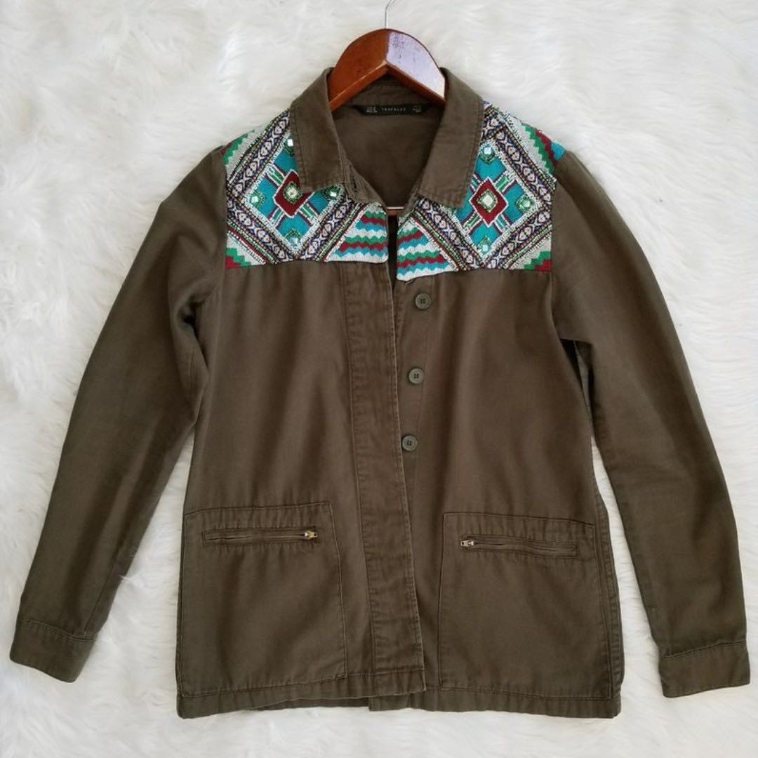 Zara Aztec Beaded Jacket