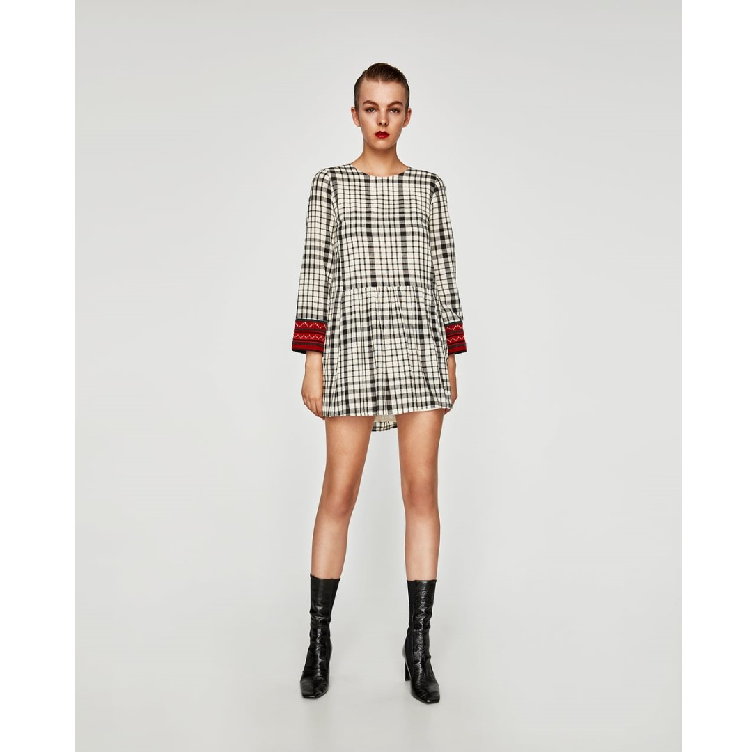 Zara Checkered Dress
