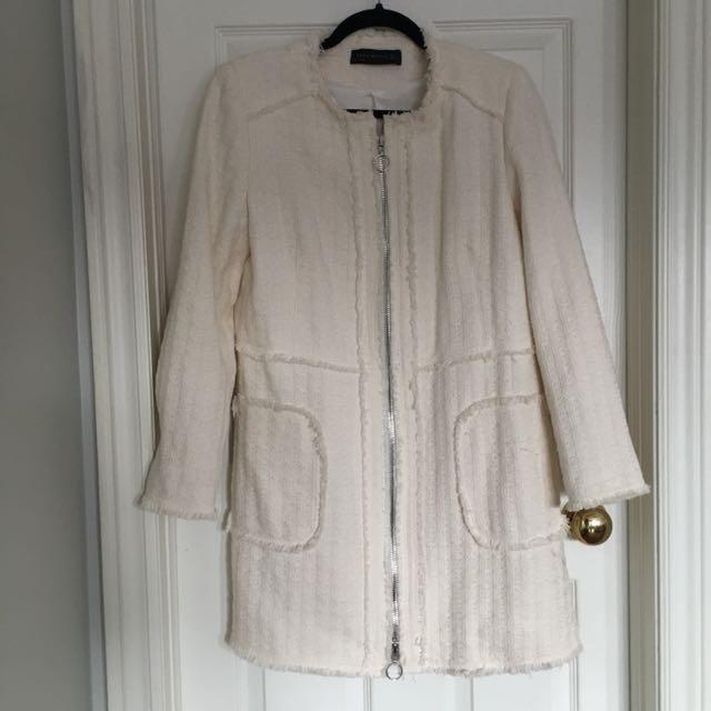 Zara Dress Coat | Ivory S