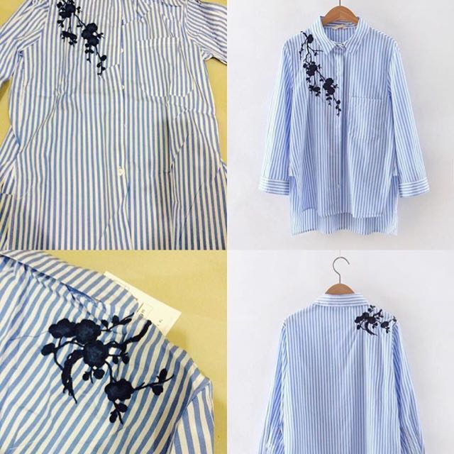Zara inspired Embroidered Blouse
