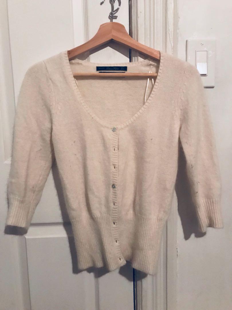 Zara wool cropped sweater