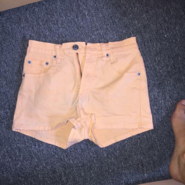 Ziggy orange high Waist shorts