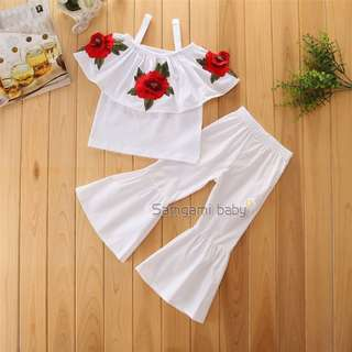 White Tape Roses 2pcs Set