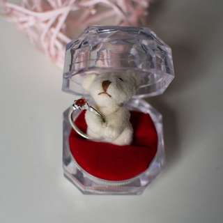 Valentines Gift Cute Bear Ring Holder