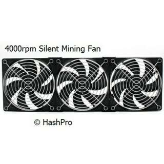 4000rpm Silent Fan for Mining Rigs