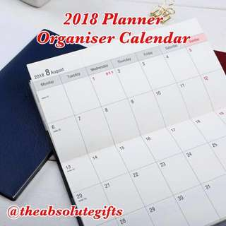 🔹2018 Planner Organiser Calendar