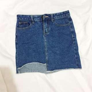 Right Cut Denim Skirt