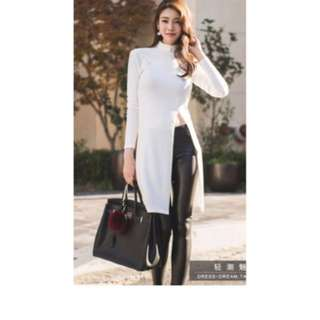 dress - putih / dress wanita / dress casual / bodycon