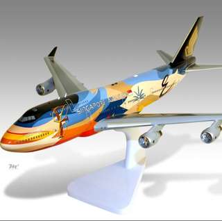 "Rare and New Singapore Airlines SIA Boeing 747-400 ""Rainbow"" Aircraft Model."