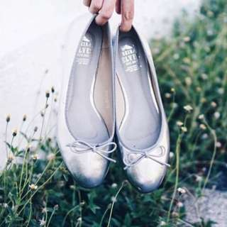 Kristine Silver Ballerina Flats Seiraelves Seira Elves