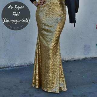 Ara Sequin Skirt (Champagne)