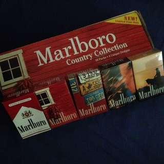 Vintage Marlboro Red Boxes 4 Designs SET w Carton Box