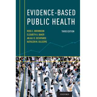 Evidence based public health 3rd edition