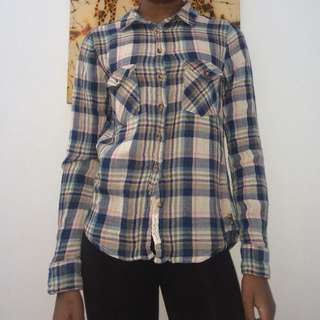 Plaid Top from H & M