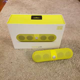 Beats Pill Limited Edition Neon Yellow Bluetooth Speaker