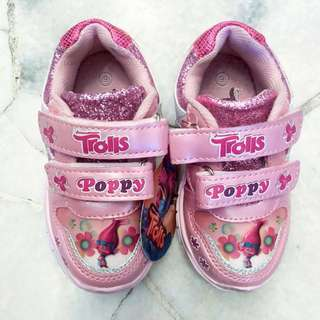 🆕 DREAMWORKS TROLLS GIRLS PINK SHOES