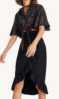 Pomelo Floral Flounce Shirt