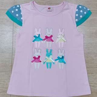 Bunny pink top for girls