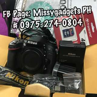Nikon d7100 body only with accessories and box (20k clicks only