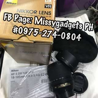 Nikon 18-105mm VR zoom lens with box (2ndhand)
