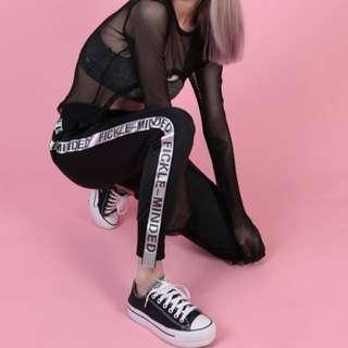 Fickle-Minded Pants in Black