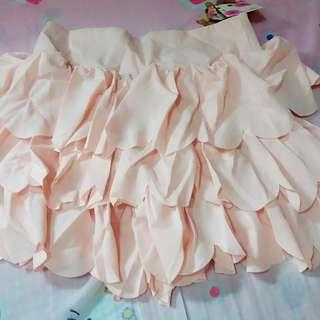 日系粉色半截裙