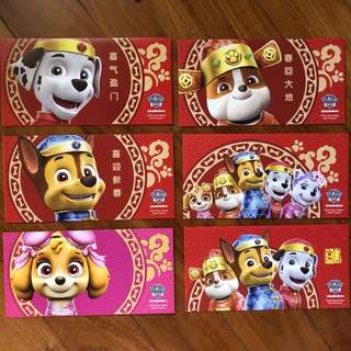 BN 2018 Singtel Paw Patrol Red Packets